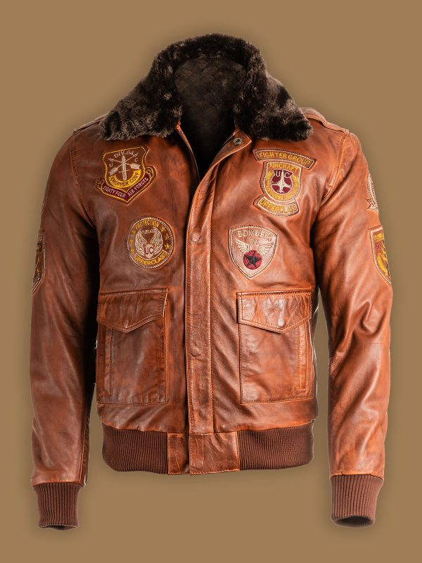 men shearling top gun jacket