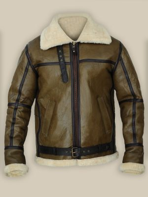 men b3 brown sheepskin leather jacket, mauvetree shearling jacket,
