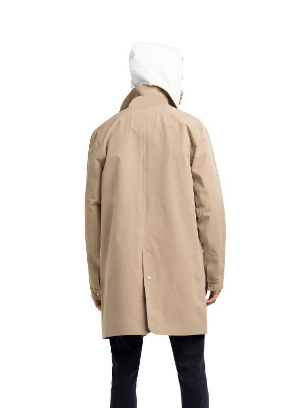 men khaki brown coat