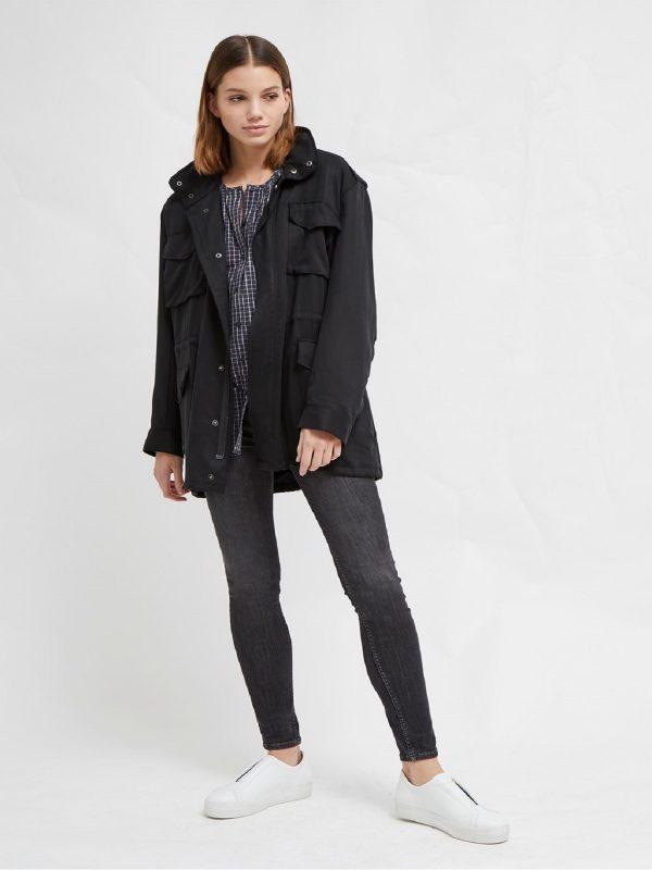 women ptch black utiltiy jacket