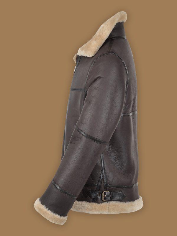 men raf sheepskin leather jacket