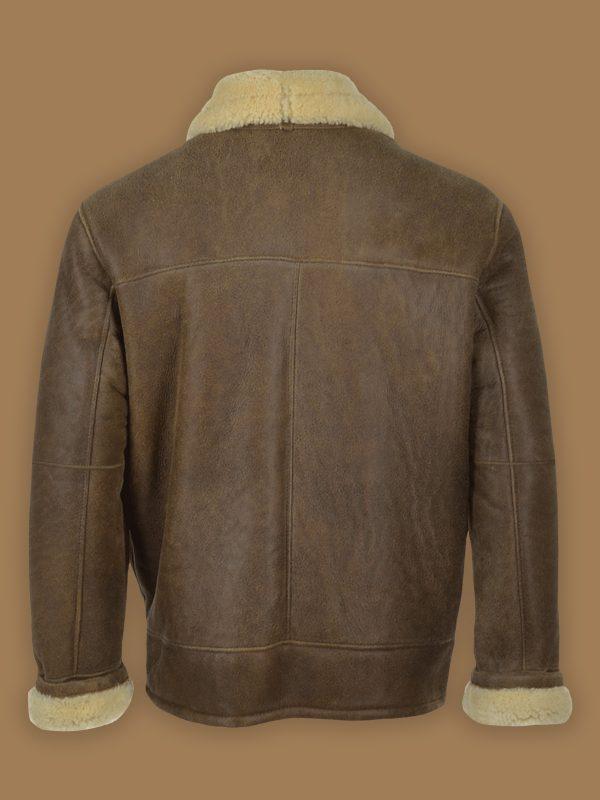 men aviator shearling leather jacket