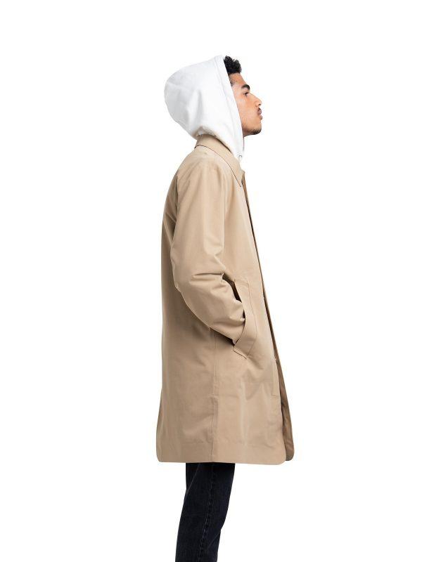 men brown cotton coat