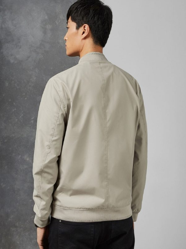 men light grey cotton jacket