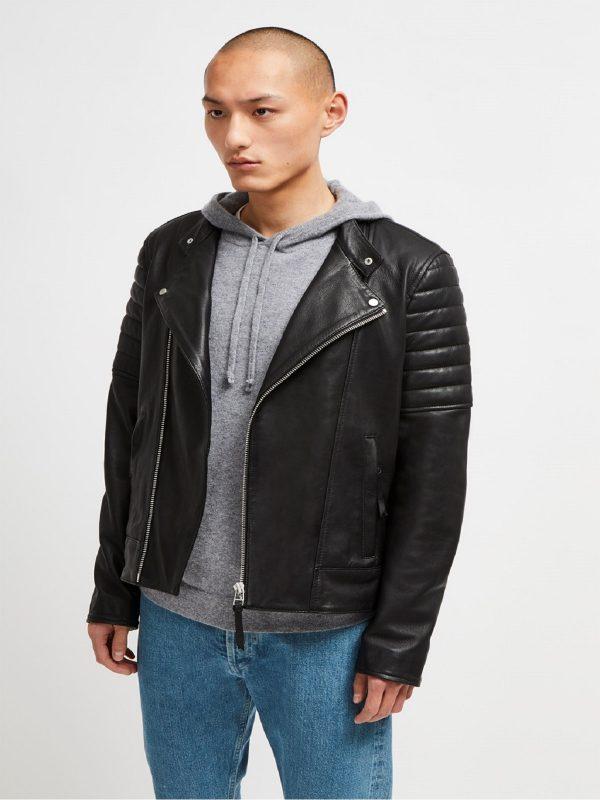 trendy men black jacket