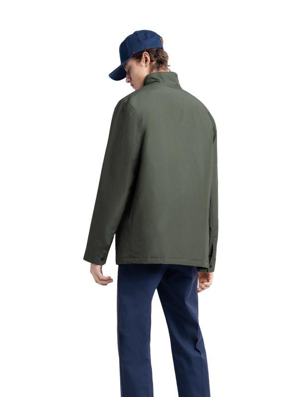 men dark green cotton jacket