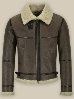 men brown sheepskin jacket