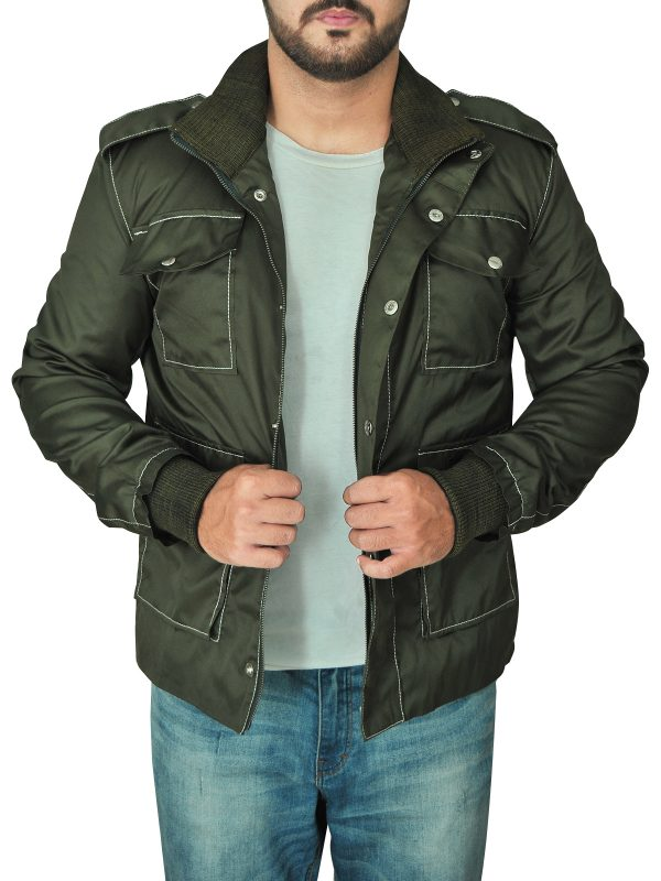 trendy men green cotton jacket, green cotton jacket for men,