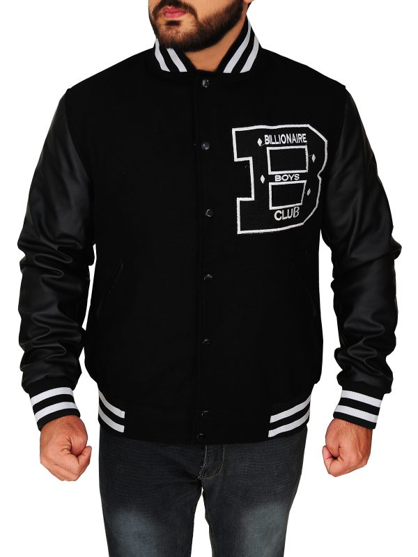 men black bbc varsity jacket, billionaire boys club varsity jacket,