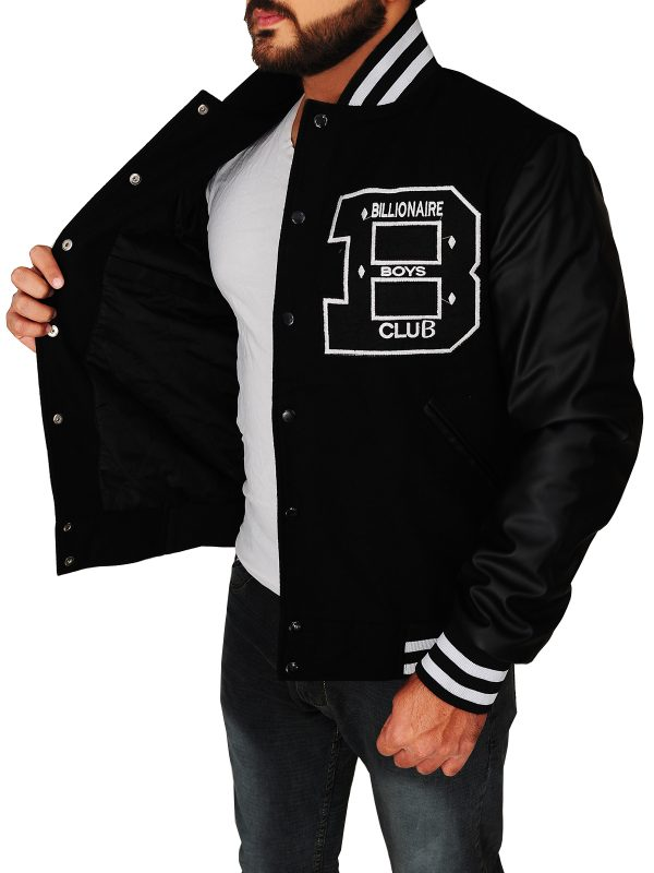 BBC Black varsity jacket, letterman bbc jacket,