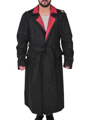 men's wool trench coat, wool trench coat for guys,