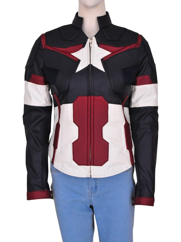 stylish captain america jacket, captain america jacket for women,