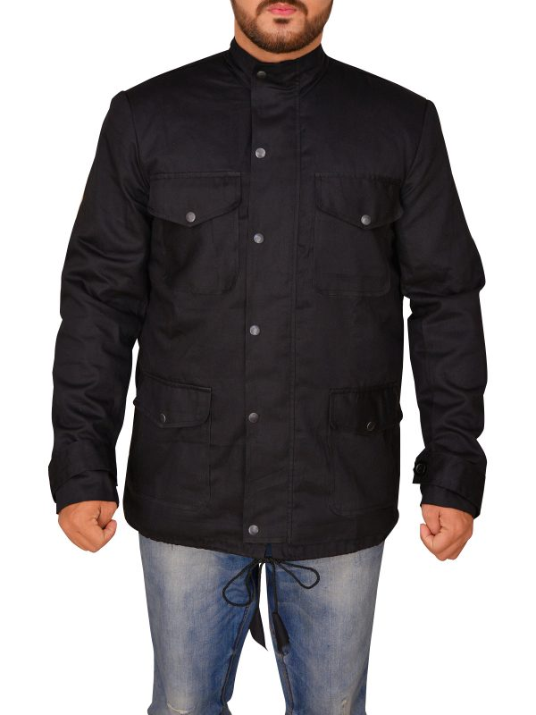 trending black cotton jacket for men, men trendy black cotton jacket,