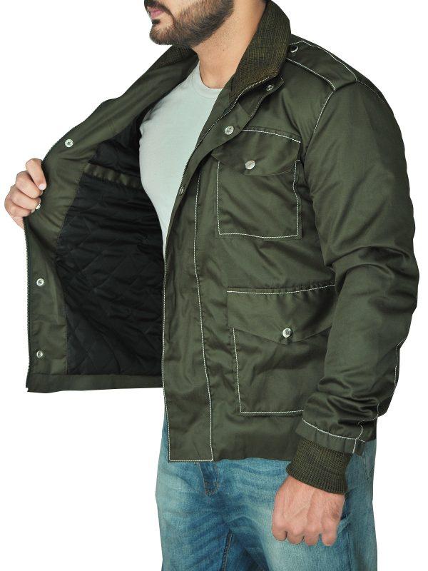 stylish men green cotton jacket, trending men green cotton jacket,