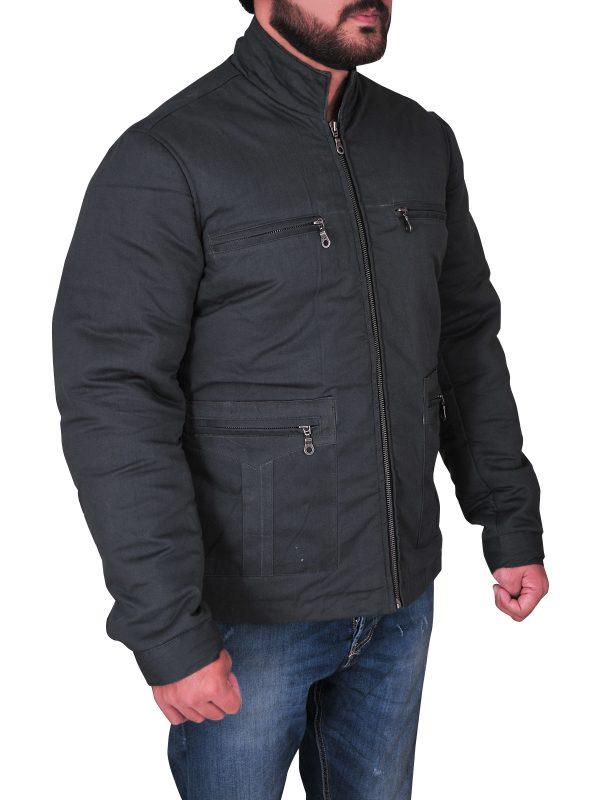 Simple grey cotton jacket for men, men simple grey cotton jacket,