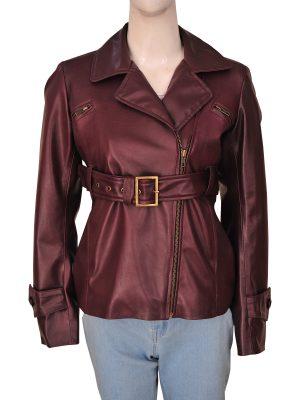 trendy brown leather blazer, women brown leather blazer,