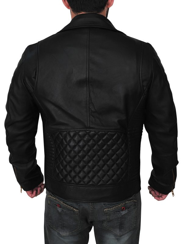 mauvetree stylish black bradno leather jacket, mauvetree trendy black brando jacket for men,