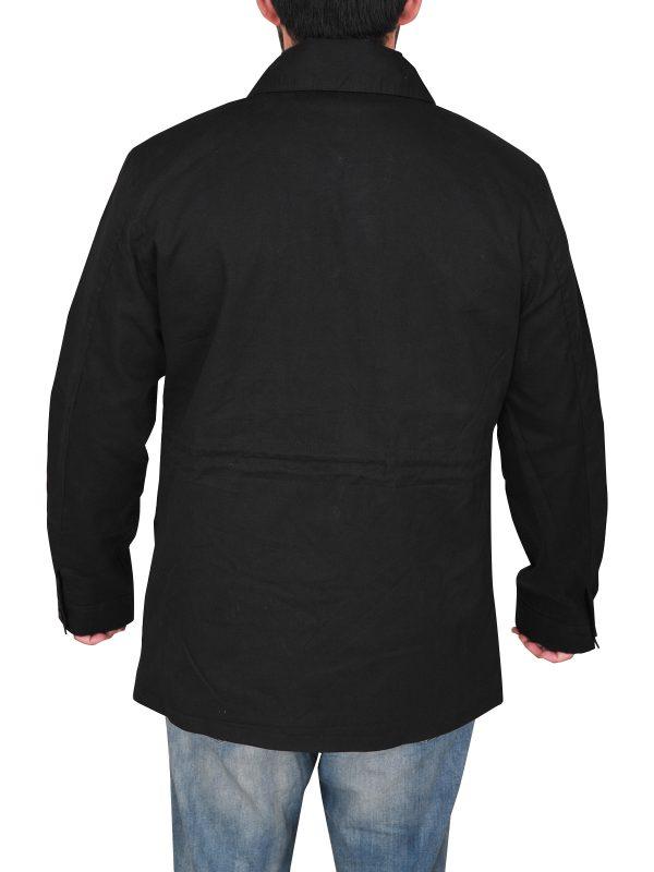 mauvetree men black utility jacket, mauvetree utility cotton jacket,,