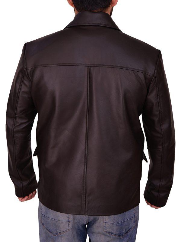 mauvetree stylish brown leather jacket, mauvetree men brown real leather jacket,