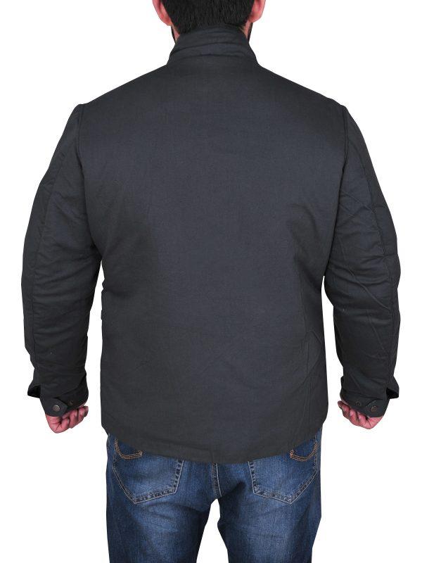 mauvetree grey cotton jacket for men, mauvetree men's grey cotton jacket,