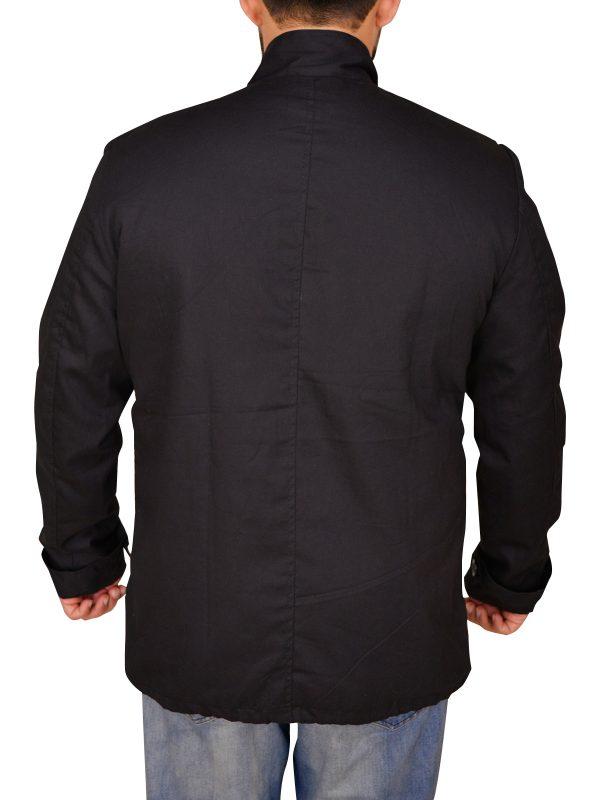 mauvetree casual black cotton jacket, mauvetree men casual black cotton jacket,