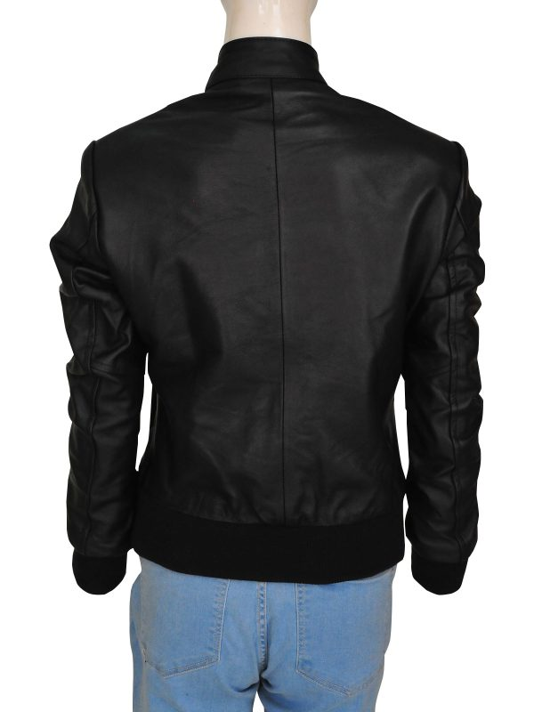 mauvetree chic women leather jacket, mauvetree fancy black women leather jacket,