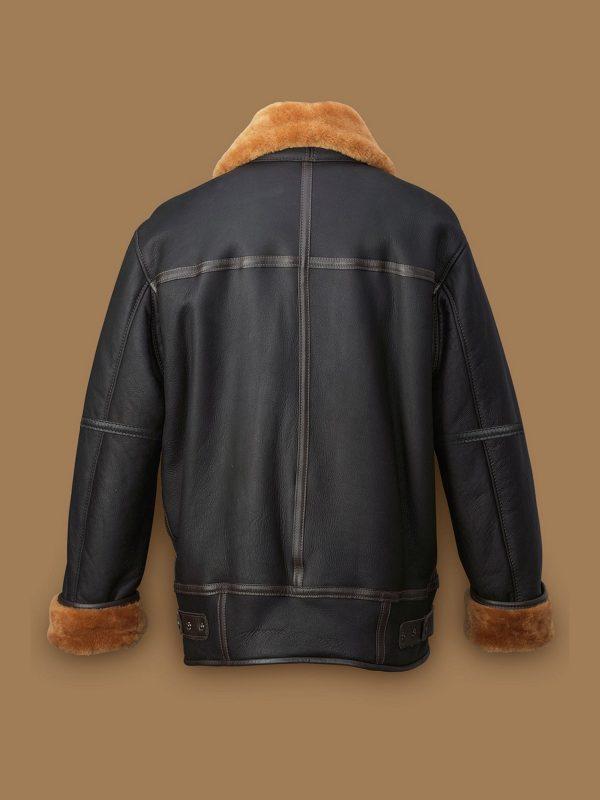 men aviator sheepskin jacket