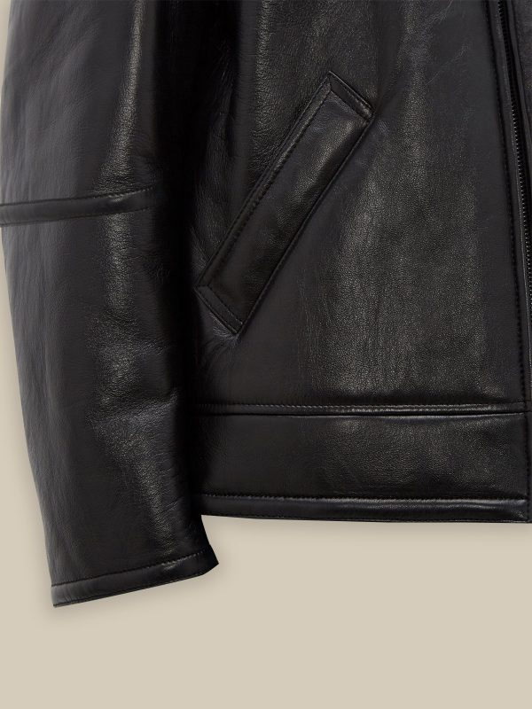 men sheepskin leather jacket