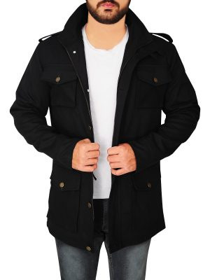 black barbour jacket for men, men's barbour cotton jacket,