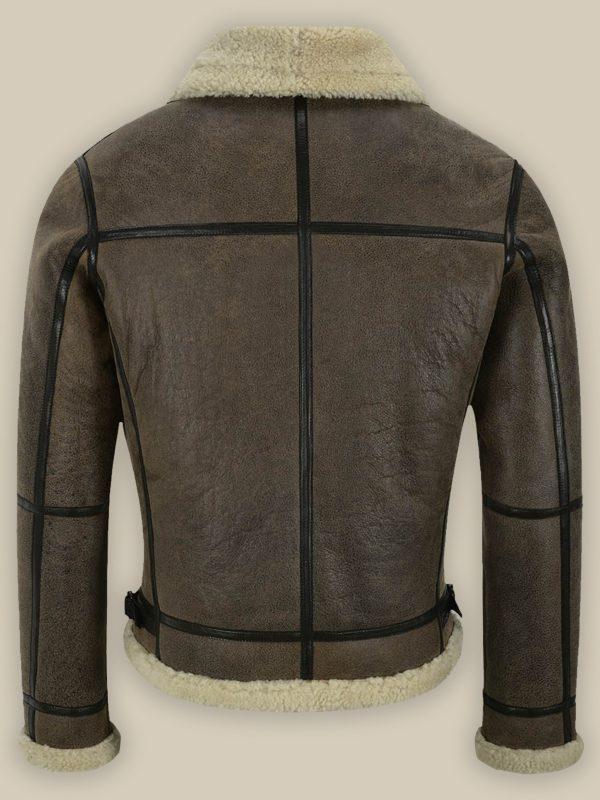 men brown b3 sheepskin jacket