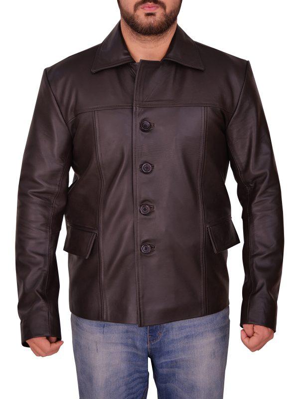 streetwear brown leather jacket, street style men brown leather jacket,