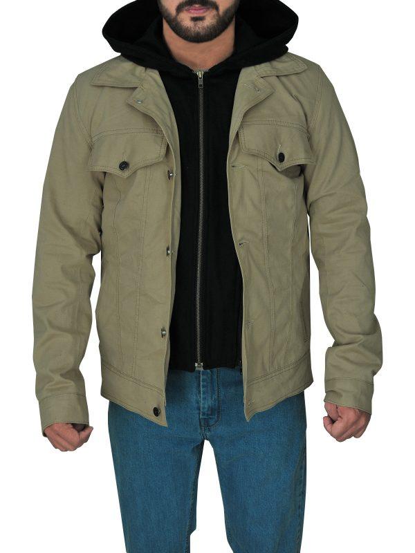 men casual cotton jacket, men casual hoodie jacket,