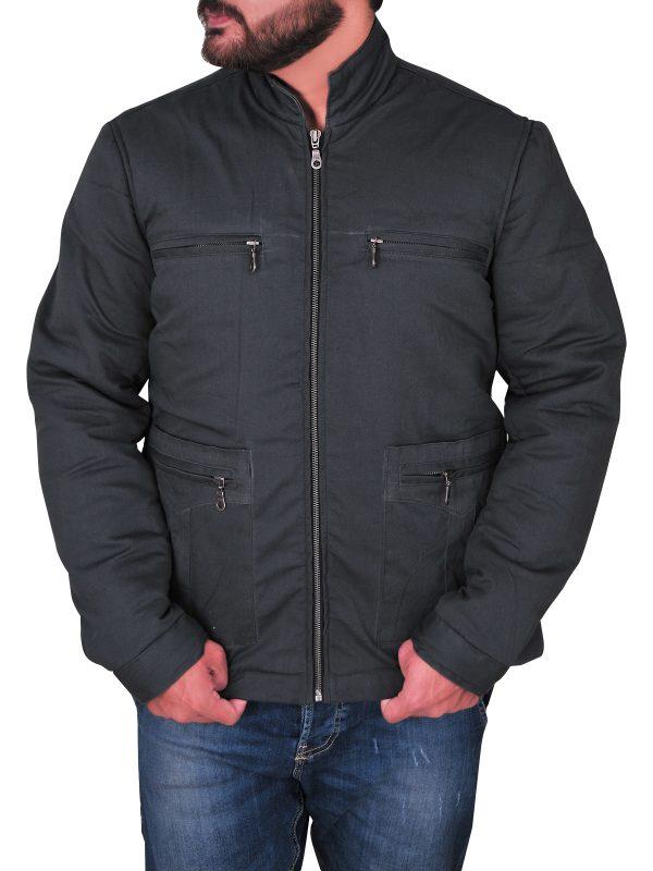fashionable men grey cotton jacket, trending grey cotton jacket,