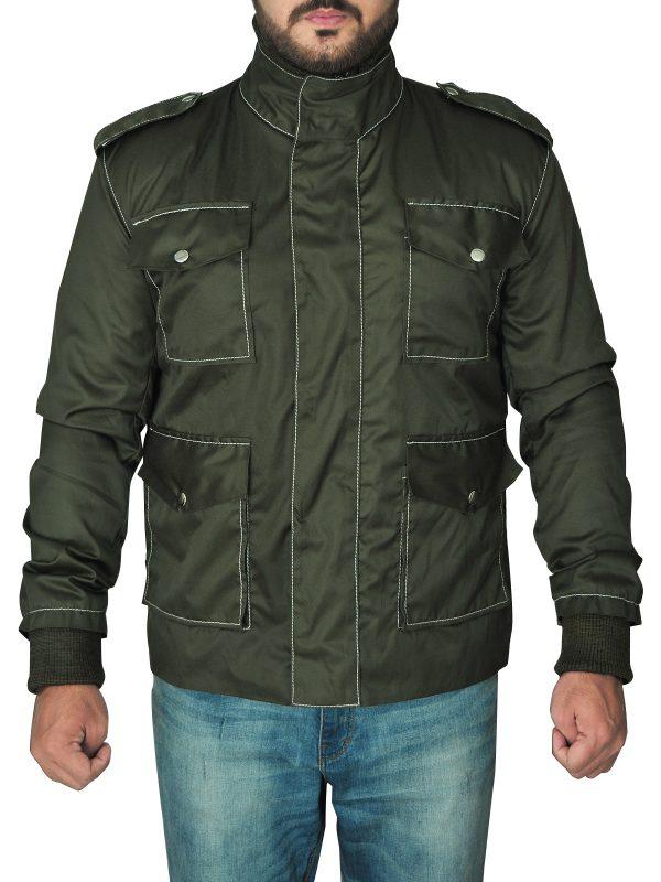 fashionable men green cotton jacket, light weight men cotton jacket,