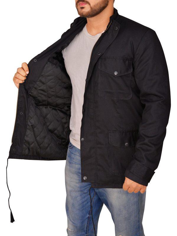 attractive men black cotton jacket, black cotton jacket for guys,