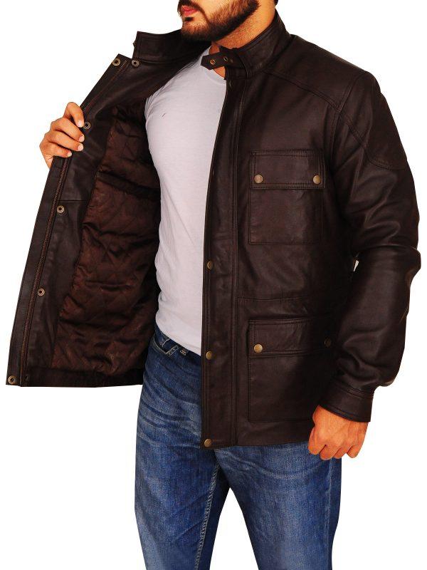 fashionable men field leather jacket, stylish brown field leather jacket for men,