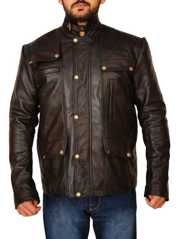 dark brown trending men leather jacket, dark brown leather jacket,