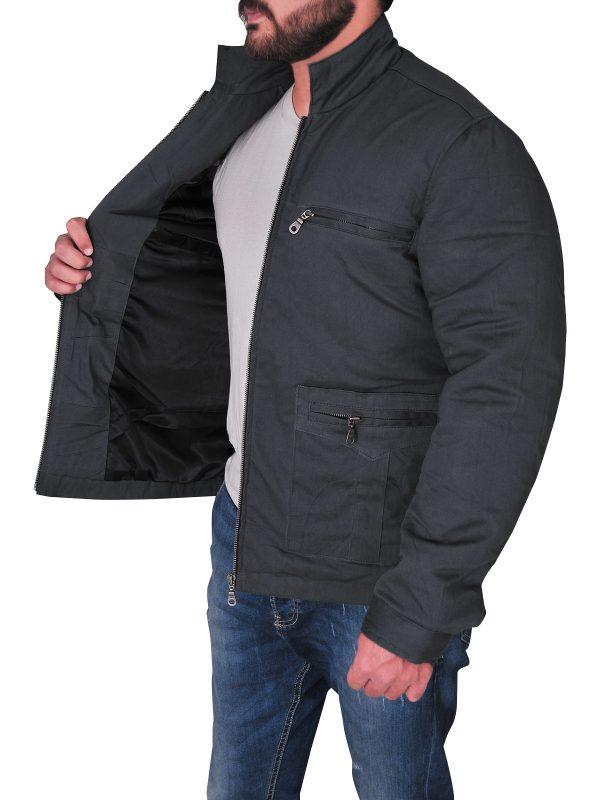 streetwear grey cotton jacket men, men grey cotton jacket outerwear,