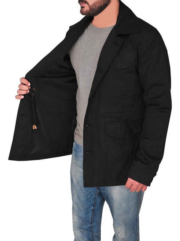 flap pocket cotton jacket, men flap pocket cotton jacket,