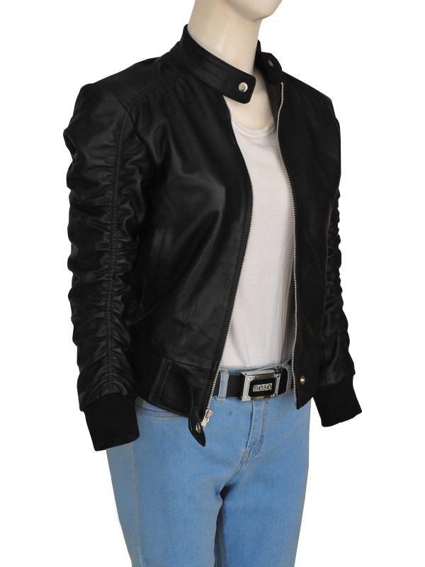 stylish black women leather jacket, trending black women leather jacket,