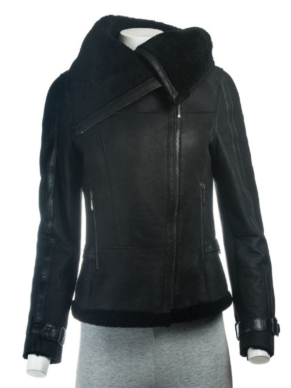 trending women shearling jacket