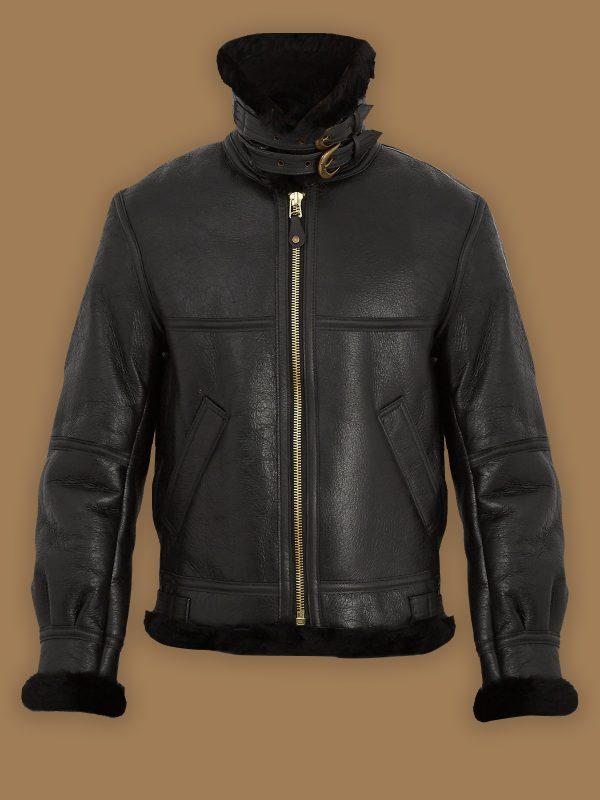 women trendy b3 shearling jacket