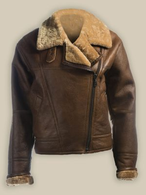 women brown sheepskin jacket