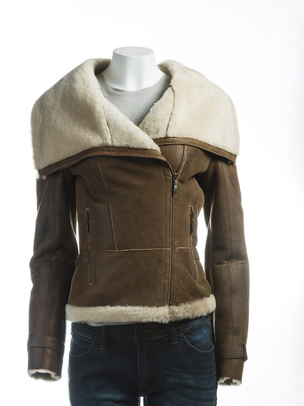 women brown oversized jacket