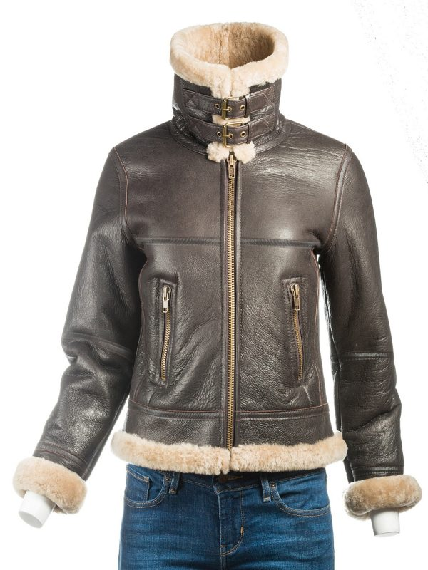 trending shearling jacket for women