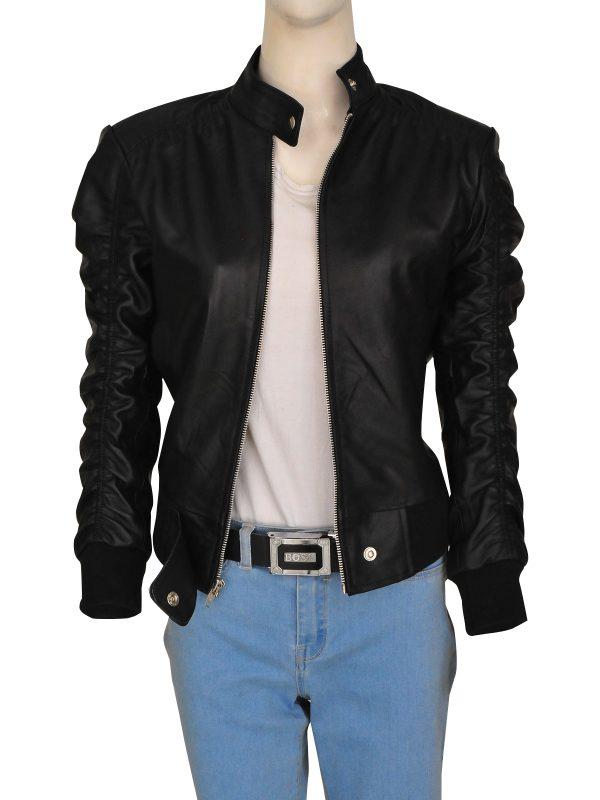 black leather jacket for girls, girls black leather jacket,