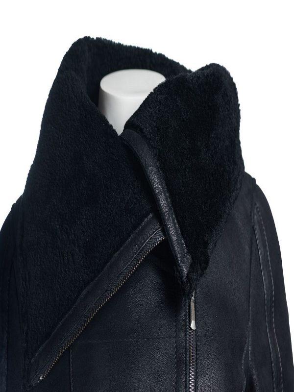 stylish women shearling jacket