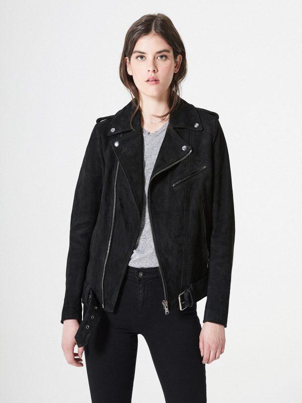 trendy women suede jacket