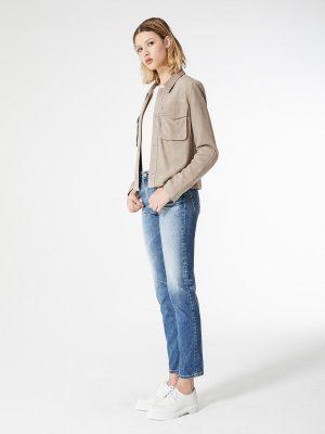 women grey cotton jacket