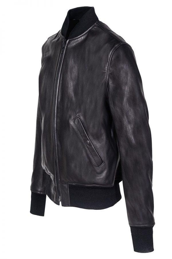 men leather varsity jacket